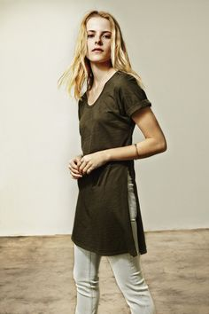 Three Dots Laverne Side Slit Tunic | Summer 2016 Collection