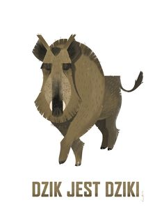 ArtStation - Boar is Wild, Asia Stopyra #dzik #wildboar #boar #geometric #illustration #forest #animal #jest #dziki #polish #janbrzechwa #zwierzyniec