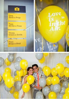 Photobooth sign to hang from canopy...scratch the balloons
