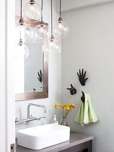 Light fixture | vanity | towel holder | sink