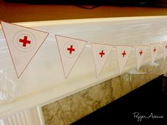 Doctor or Nurse Party Bunting Banner - Birthday or Graduation Party - Diy Printable File (INSTANT DOWNLOAD!!) by xxPepperAvenuexx on Etsy https://www.etsy.com/listing/186253957/doctor-or-nurse-party-bunting-banner