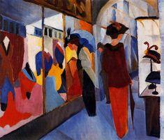 """August Macke por varias razones es considerado expresionista, principalmente por vivir en el tiempo que surgió el movimiento, por su amistad con Franz Marc y por participar en el movimiento """"Der Bl…"""
