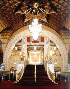 RESTORATION   INTERIOR GILDING   Pantages Theatre, Los Angeles, California USA.