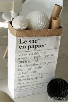1000 images about le sac en papier on pinterest paper bags typography and deco. Black Bedroom Furniture Sets. Home Design Ideas