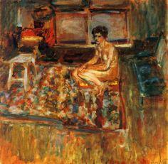 Nude on an Orange Rug, Edouard Vuillard 1909