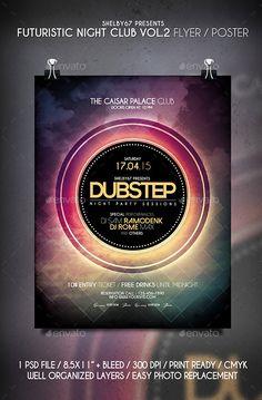 Futuristic Night Club Flyer / Poster Vol 2