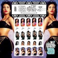 Selena Quintanilla Nail Decals are a must for #manimonday - gifts for Selena Fans