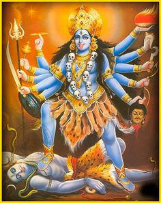 Kali, godess of time, change, empowerment and the female force. Durga Kali, Kali Mata, Shiva Shakti, Shri Hanuman, Kali Goddess, Mother Goddess, Divine Mother, Mother Kali, Lord Murugan