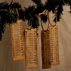 CHRISTMAS ORNAMENT / BOOKMARK SET - We Three Kings - Christmas Song and Hymn - Set of 4