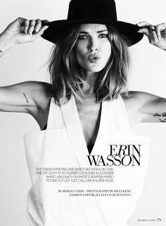 Erin Wasson Poses in Glow Magazines May 2013 Cover Shoot | Fashion Gone Rogue: The Latest in Editorials and Campaigns