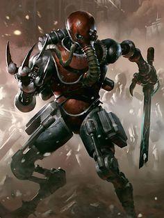 Скитарии - воинство Омниссии Warhammer 40k, skitarii, adeptus mechanicus, длиннопост