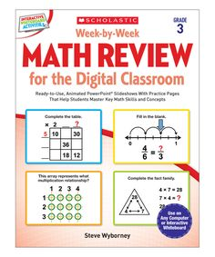 Another great find on #zulily! Math Review for the Digital Classroom: Grade 3 Paperback by Scholastic Teaching Resources #zulilyfinds
