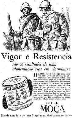 Publicidade de apoio à guerra - Leite Moça
