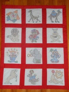 Playful Circus Fun Handmade Baby Quilt by CraftingByTheWayside #craftshout $85.00