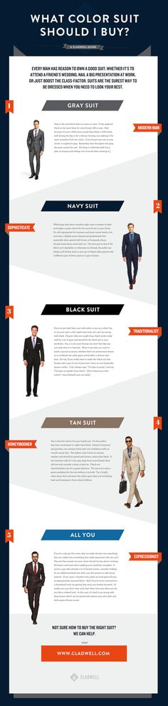 What Color Suit Should I Buy? Men's Suit Coloring Guide — CLADWELL GUIDE