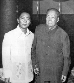 Mao Zedong Meets Ferdinand and Imelda Marcos and their son Bongbong, Ferdinand, People Power Revolution, Philippine Army, Mao Zedong, President Of The Philippines, Greatest Presidents, Political Leaders, Power To The People, Communism