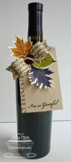 Thankful for You Wine Tag by stampinjewelsd