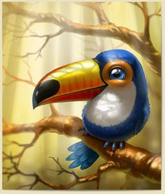 Anna Antracit on Behance Owl Art, Bird Art, Animal Sketches, Animal Drawings, Cartoon Drawings, Cute Drawings, Cartoon Birds, Cute Photography, Bird Illustration