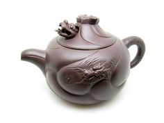 Zi Sha-Purple Clay Tea Pot-Yu Hua Long-Fish Turned to Dragon