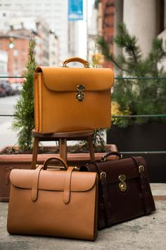Trunk show tomorrow and Saturday. Trunk show tomorrow and Saturday. Trunk show tomorrow and Saturday. Leather Laptop Bag, Leather Briefcase, Leather Projects, Luxury Bags, Leather Working, My Bags, Leather Craft, Backpack Bags, Leather Men