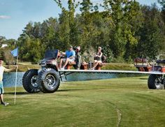 The longest golf cart measures 9.62 metres from bumper to bumper and was created by Mike's Golf Cart... - Guinness World Records