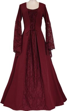 Medieval and Old Dresses Medieval Dress Pattern, Medieval Gown, Renaissance Dresses, Medieval Costume, Old Dresses, Vintage Dresses, Vintage Outfits, Medieval Fashion, Medieval Clothing