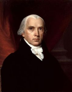 Official White House Portrait of James Madison - 4th President of the United States