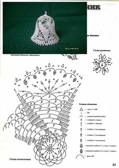 Witam:) To co wczoraj zobaczyłam na swojej tablicy na FB S - SalvabraniCrochet Patterns Christmas Photo only. No pattern - Salvabrani - SalvabraniAnges au crochet Plus - SalvabraniCrochet Bell About tall with threadLearning to knit crochet bells on Crochet Diagram, Crochet Chart, Thread Crochet, Crochet Motif, Diy Crochet, Crochet Flowers, Crochet Snowflake Pattern, Christmas Crochet Patterns, Holiday Crochet