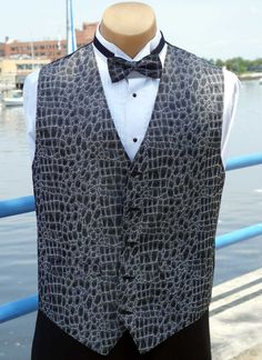 Alligator Print Vest for Men
