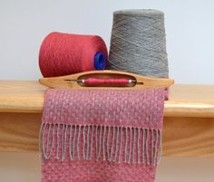 Handwoven cashmere scarf kilim pink by MadeleineJude on Etsy