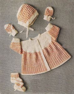 Vintage knitting pattern for baby or reborn