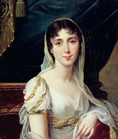 Désirée Clary, wife of French Marshal Jean-Baptiste Bernadotte and future Queen of Sweden by Robert Lefevre (1755-1830).
