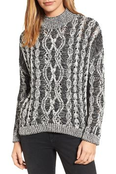 Caslon | Marled Cable Pullover | Nordstrom Rack