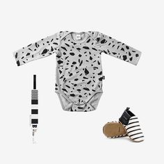 Perfect set of the day 👀 terrazzo long sleeve onesie online now!!! w w w . l e l e k u k u . c o m #lelekuku #shipping #worldwide