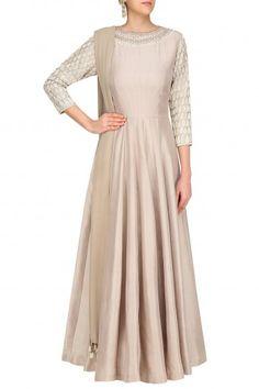Manish Malhotra Grey Pearl Drop and Swarovski Embroidered Anarkali Set #happyshopping#shopnow#ppus