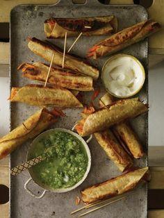 Crispy carrot tacos (Tacos dorados de zanahoria)