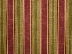 Autumnal Waverly University Stripe Linen Fabric - The Millshop Online
