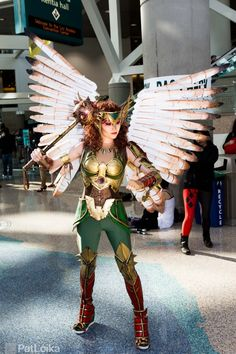 Hawkgirl #Cosplay Love it! I've always wanted to make a hawk girl costume.