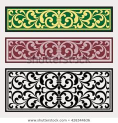 Vector vintage border frame logo engraving with retro ornament pattern in antique rococo style decorative design Decorative Panels, Decorative Boxes, Pattern Art, Pattern Design, Thermocol Craft, Dremel Wood Carving, Vintage Borders, Laser Art, Oriental Pattern