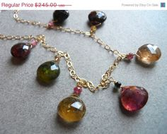 CYBER MONDAY 13% OFF Earth Tones, Watermelon Tourmaline Necklace, Number One Shirzay,  - Long Island Sunset on Etsy, $213.15