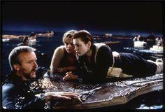 James Cameron, Leonardo DiCaprio & Kate Winslet a Titanic (1997)