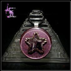 Decoenergía-Estrella Con Piedras Amatis 3.5cm