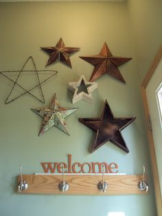 Deluxe Handcrafted Rustic Metal Wall Decor Stars. I Would Love To Put These  On The Wall Behind My Couch. | Coastal Art | Pinterest | Metal Walls, ...