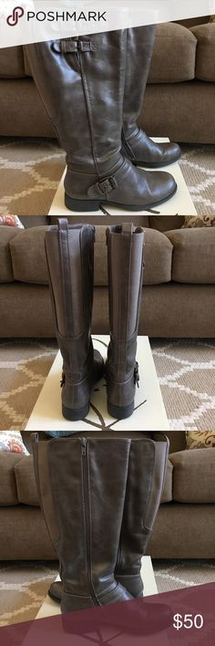 Kim Rogers brand mushroom color riding boots Kim Rogers brand mushroom color riding boots in excellent condition. Ships in original box. Kim Rogers Shoes
