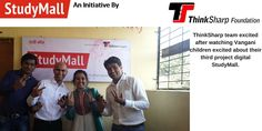 ThinkSharp team excited after watching Vangani children excited about their third project digital StudyMall.