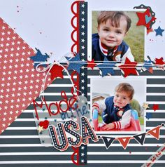 Made in the USA~Echo Park - Scrapbook.com - Made with Echo Park supplies.
