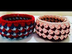 Corbeille crochet - YouTube Crochet Video, Hui, Point, Inspiration, Basket, Crochet Baby, Tulip, Baskets, Creative Crafts