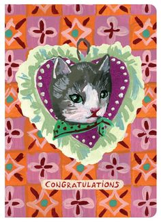 Send your sincere congratulations with this beautifully illustrated greeting card featuring delightful artwork by Nathalie Lete - Features artwork by Nathalie Lete - Bi-Fold - Includes matching envelo