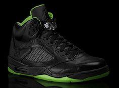 Air Jordan V Black/Neon Green Collection