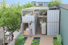 SOAK Pop-Up Shipping Container Spa Promotes Health
